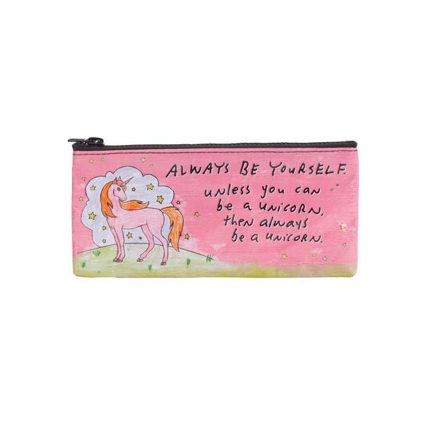 Blue Q Pencil Case Always Be Yourself Unless You Can Be A Unicorn | The Gifted Type