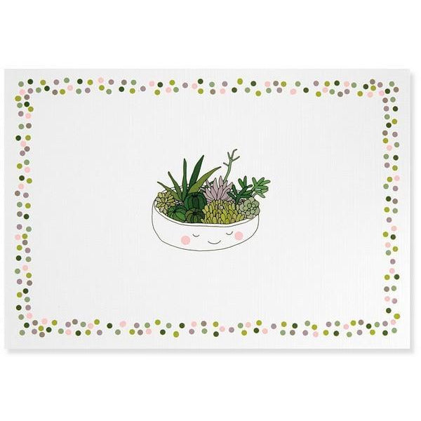 Succulents Blank Notecards