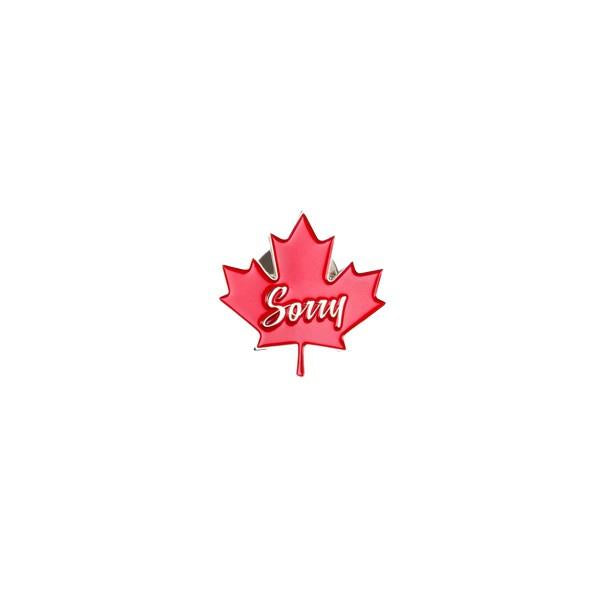 Drake General Store Enamel Pin Sorry Maple Leaf | The Gifted Type