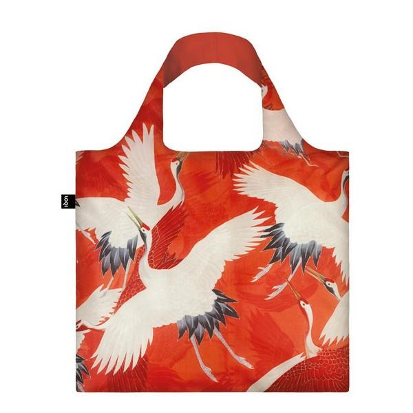 Loqi Tote Bag Woman's Haori With Cranes | The Gifted Type