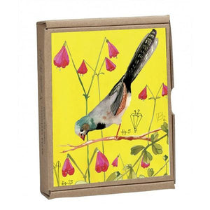 Boxed Notecards GreenNotes Vintage Birds Set Of 16 | The Gifted Type