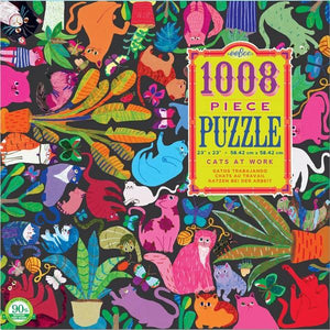 Eeboo Puzzle Cats At Work | 1008 Pieces | The Gifted Type