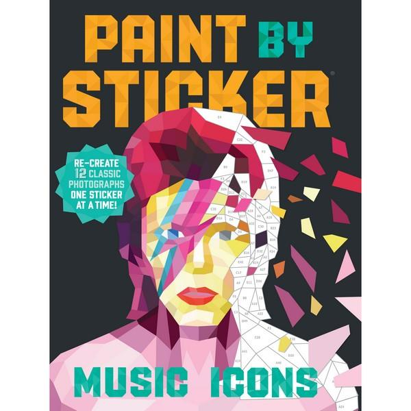 Paint By Sticker Music Icons | Creative And DIY Books | The Gifted Type