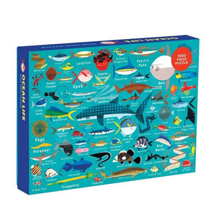 Mudpuppy Puzzle Ocean Life | 1000 Pieces | The Gifted Type