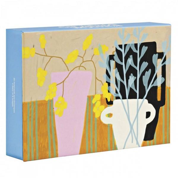 Boxed Notecards Fliptop Large Modern Botanicals Set Of 20 | The Gifted Type