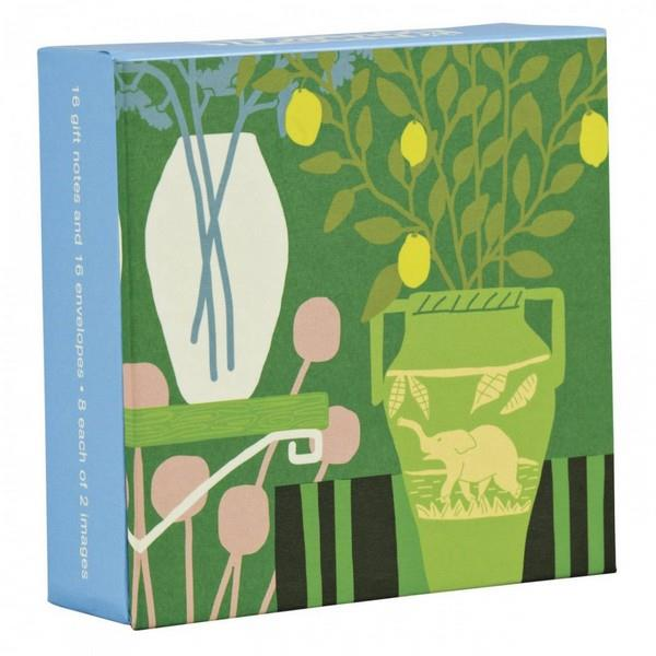 Boxed Notecards Fliptop Mini Modern Botanicals Set Of 16 | The Gifted Type