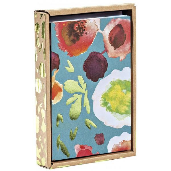 Boxed Notecards Luxe Foil Blooms Set Of 10 | The Gifted Type