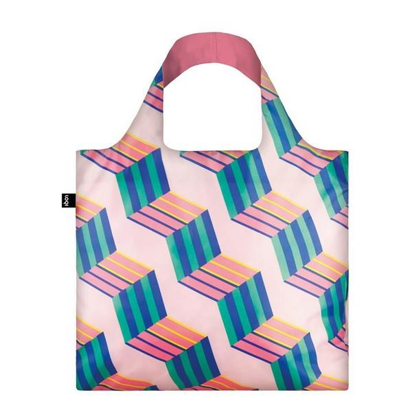 Loqi Tote Bag Geometric Cubes | The Gifted Type
