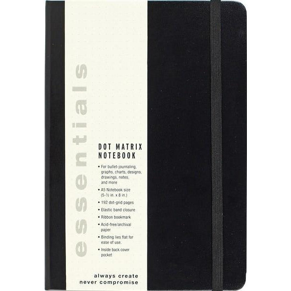Essentials Notebook - Large Black Dotted