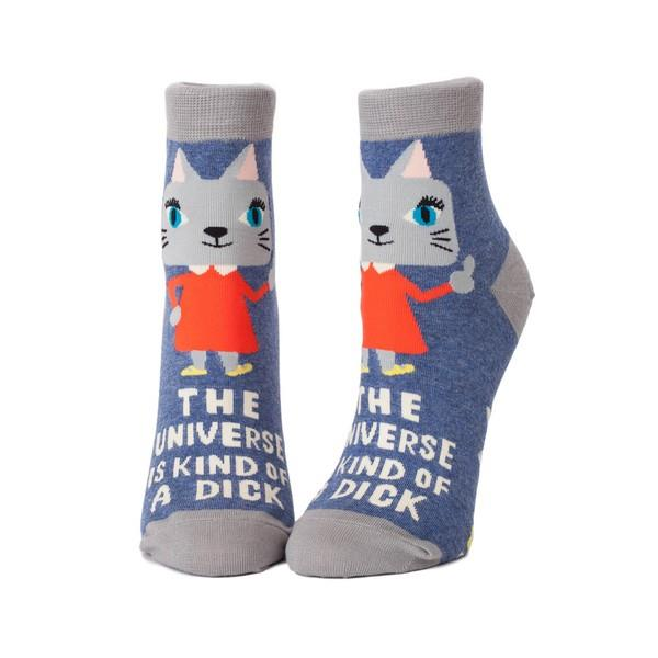 Blue Q Women's Ankle Sock The Universe Is Kind Of A Dick | The Gifted Type