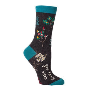 Blue Q Women's Crew Sock You Fancy Bitch | The Gifted Type