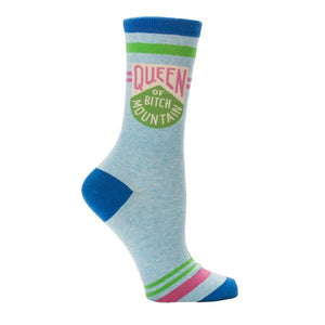 Blue Q Women's Crew Sock Queen Of Bitch Mountain | The Gifted Type