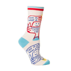 Blue Q Women's Crew Sock This Is What A Feminist Looks Like | The Gifted Type