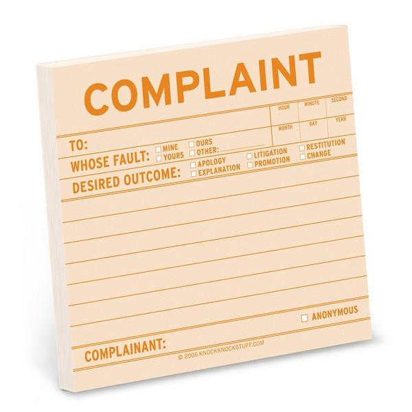 Knock Knock Sticky Notes Complaint | The Gifted Type