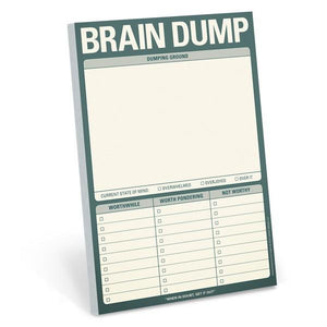 Knock Knock Notepad Brain Dump | The Gifted Type