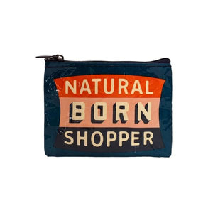 Blue Q Coin Purse Natural Born Shopper | The Gifted Type