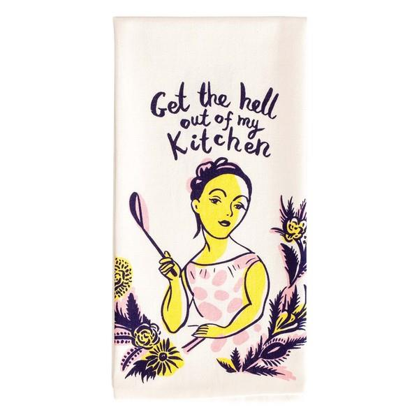 Blue Q Dish Towel Get The Hell Out Of My Kitchen | The Gifted Type