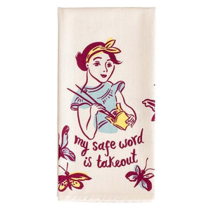 Blue Q Dish Towel My Safe Word Is Takeout | The Gifted Type