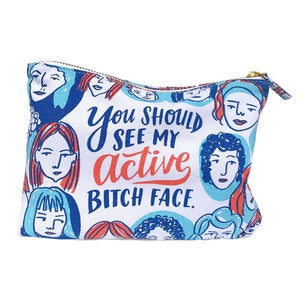 Emily McDowell Pouch Active Bitch Face | The Gifted Type