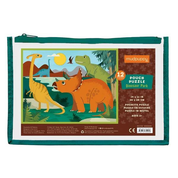 Pouch Puzzle Dinosaurs | 12 Pieces | The Gifted Type