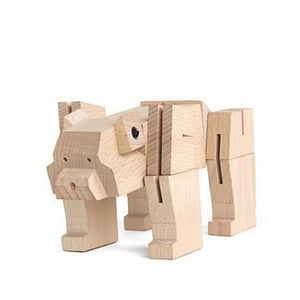 Square Bear Wooden Puzzle - The Gifted Type Ottawa gift shop