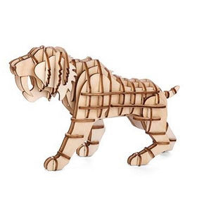 3D Wooden Puzzle Sabertooth Tiger | The Gifted Type