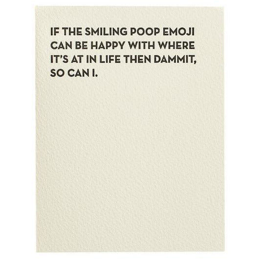 Sapling Press Card #912 Poop Emoji | The Gifted Type