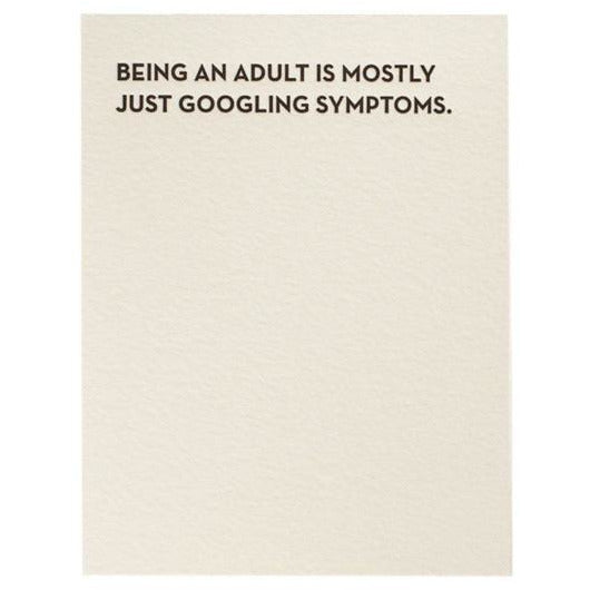Sapling Press Card #931 Googling Symptoms | The Gifted Type