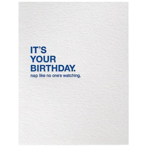 Sapling Press Card #010 Birthday Nap | The Gifted Type