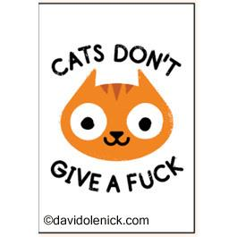 Cats Don't Give A Fuck | Magnet | The Gifted Type