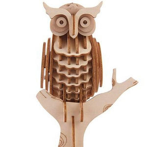 3D Wooden Puzzle Owl | The Gifted Type