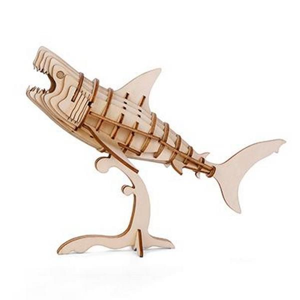 3D Wooden Puzzle Shark | The Gifted Type