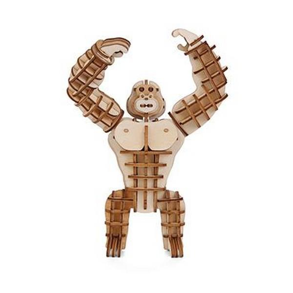 3D Wooden Puzzle Gorilla | The Gifted Type