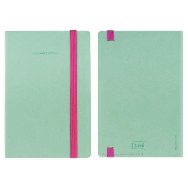 Legami Elastic Bound Notebook | Aqua | The Gifted Type