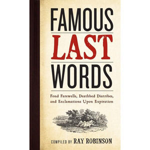 Famous Last Words | Humour Books | The Gifted Type