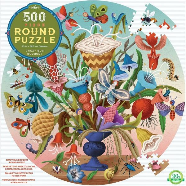 Eeboo Puzzle Crazy Bug Bouquet | 500 Pieces | The Gifted Type