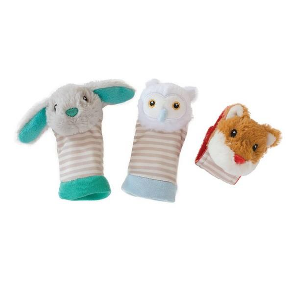 Manhattan Toy Company Foot And Wrist Rattle Set Woodland Babies | The Gifted Type