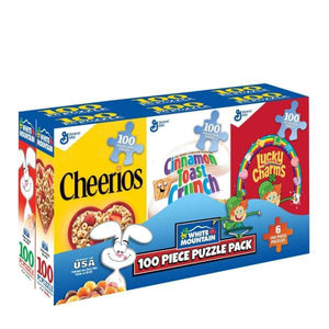 Mini Cereal Box - Set of Six 100 Piece Puzzles
