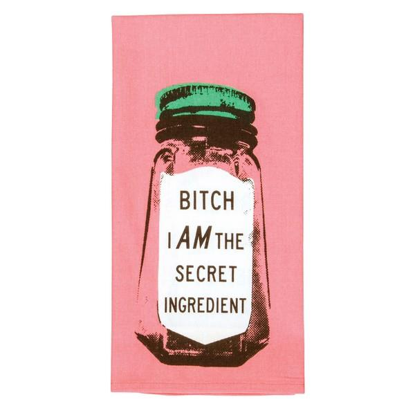 Blue Q Dish Towel Bitch I Am The Secret Ingredient | The Gifted Type