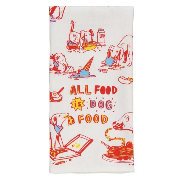 Blue Q Dish Towel All Food Is Dog Food | The Gifted Type