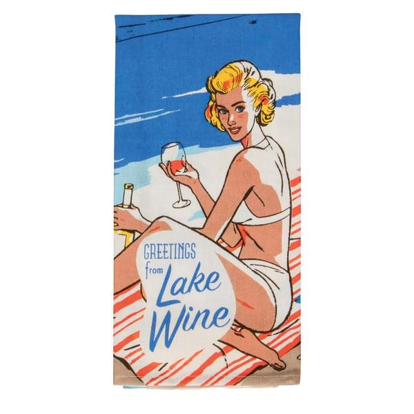 Blue Q Dish Towel Greeting From Lake Wine | The Gifted Type