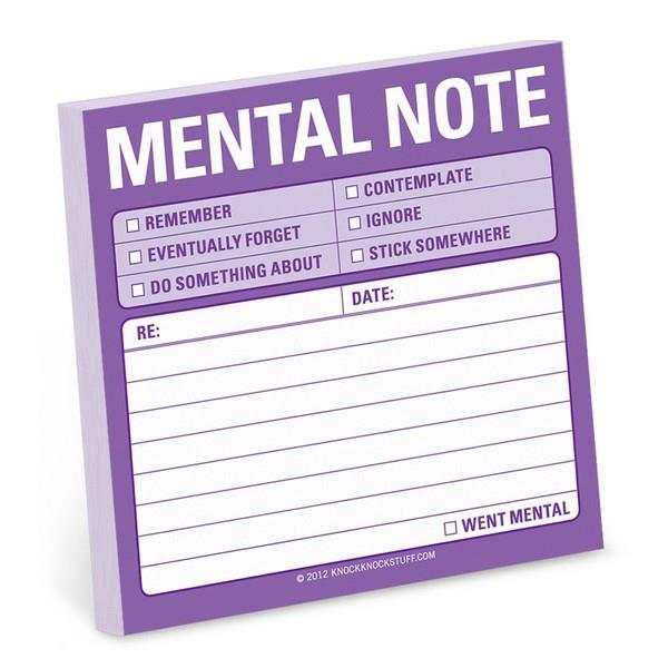 Knock Knock Sticky Notes Mental Note | The Gifted Type