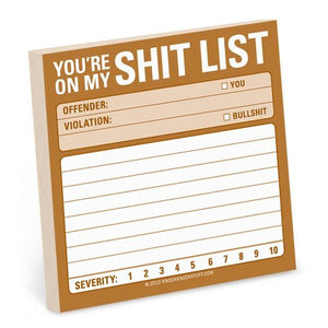 Knock Knock Sticky Notes Shit List | The Gifted Type