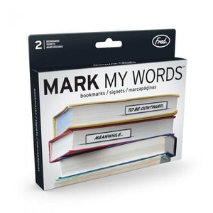 Fred & Friends Bookmark Mark My Words | The Gifted Type