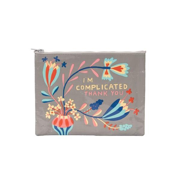 Blue Q Zipper Pouch I'm Complicated Thank You | The Gifted Type