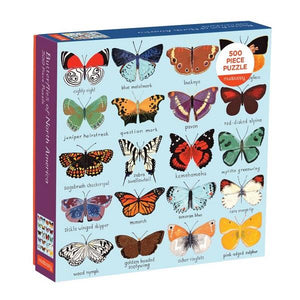 Mudpuppy Puzzle Butterflies Of North America | 500 Pieces | The Gifted Type