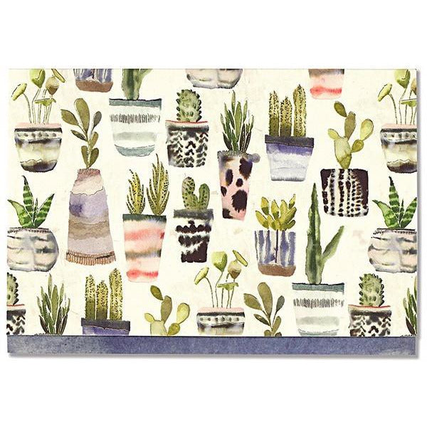 Watercolour Succulents Blank Notecards