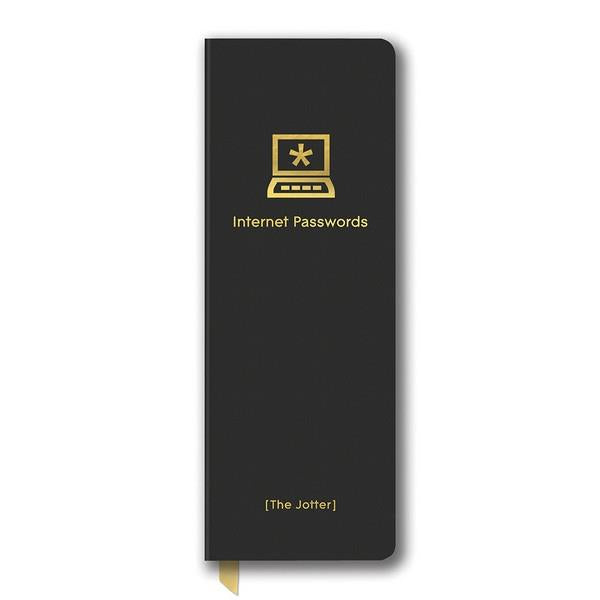 Black Password Logbook