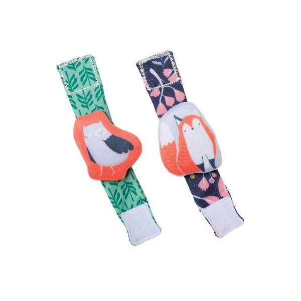 Manhattan Toy Company Wrist Rattle Set Fox And Owl | The Gifted Type