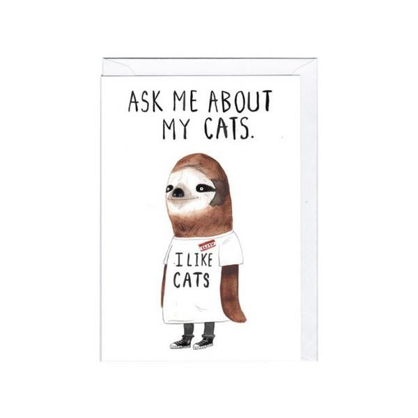 Jolly Awesome I Like Cats | Humour Card | The Gifted Type